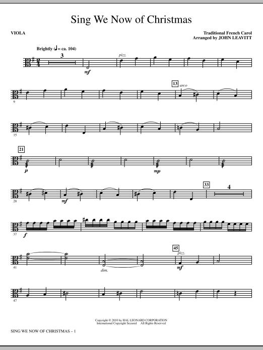 Sing We Now Of Christmas - Viola (Choir Instrumental Pak)