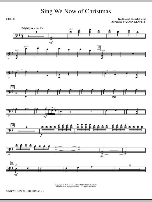 Sing We Now Of Christmas - Cello (Choir Instrumental Pak)
