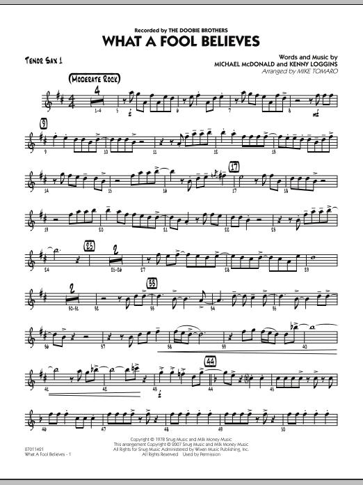 What A Fool Believes - Tenor Sax 1 (Jazz Ensemble)