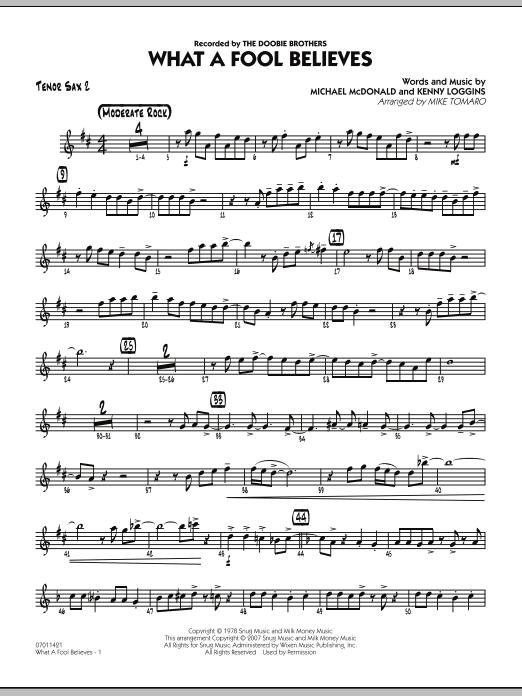 What A Fool Believes - Tenor Sax 2 (Jazz Ensemble)
