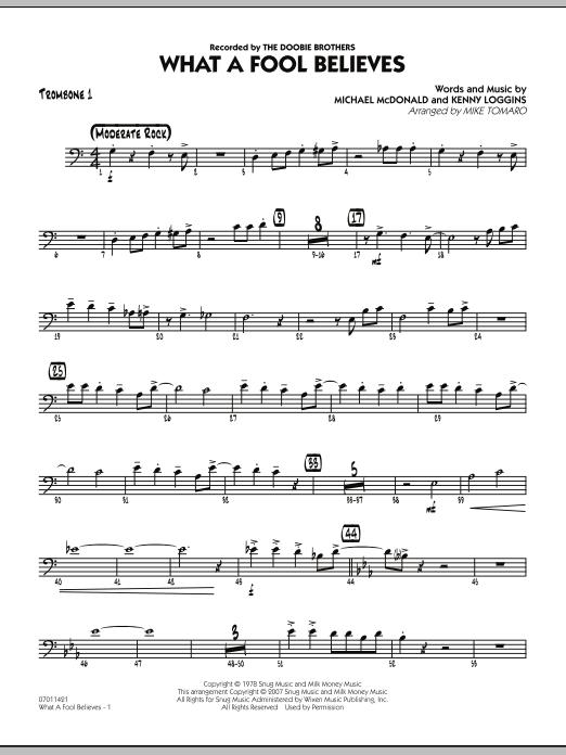 What A Fool Believes - Trombone 1 (Jazz Ensemble)