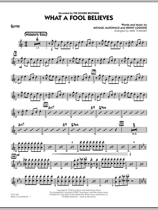 What A Fool Believes - Guitar (Jazz Ensemble)