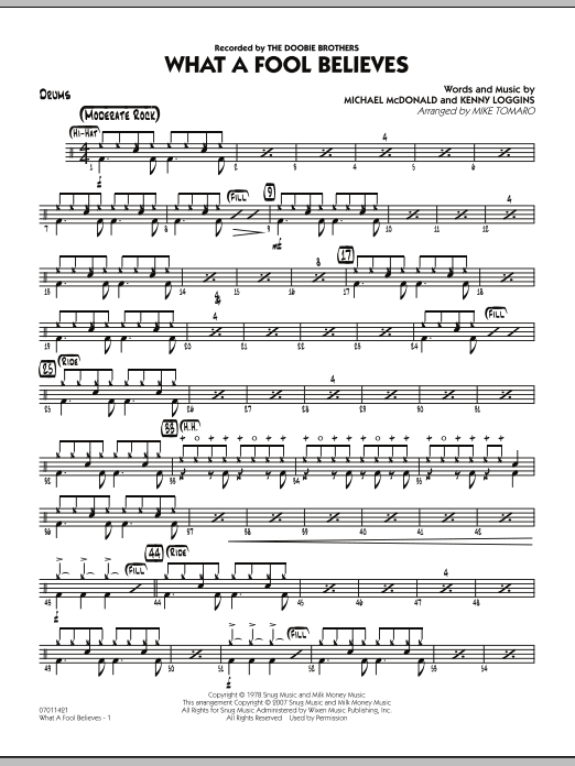 What A Fool Believes - Drums (Jazz Ensemble)
