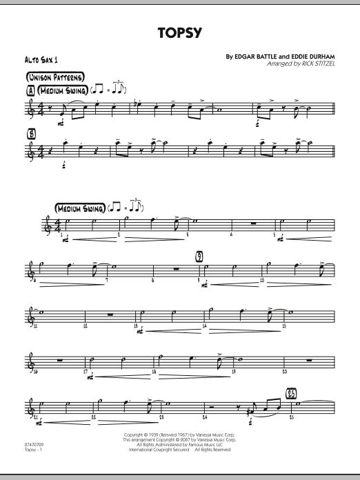 Topsy - Alto Sax 1 (Jazz Ensemble)