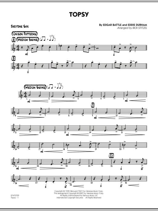 Topsy - Baritone Sax (Jazz Ensemble)