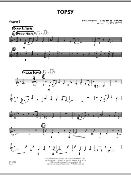 Topsy - Trumpet 3 (Jazz Ensemble)