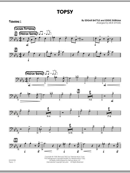 Topsy - Trombone 1 (Jazz Ensemble)