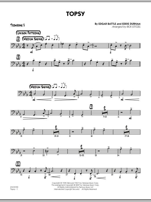 Topsy - Trombone 3 (Jazz Ensemble)