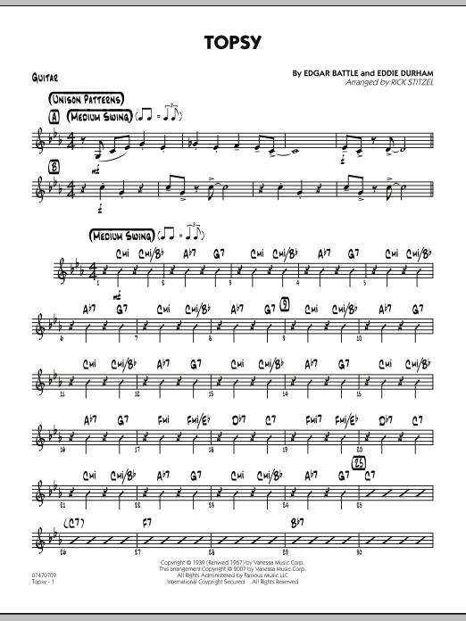 Topsy - Guitar (Jazz Ensemble)