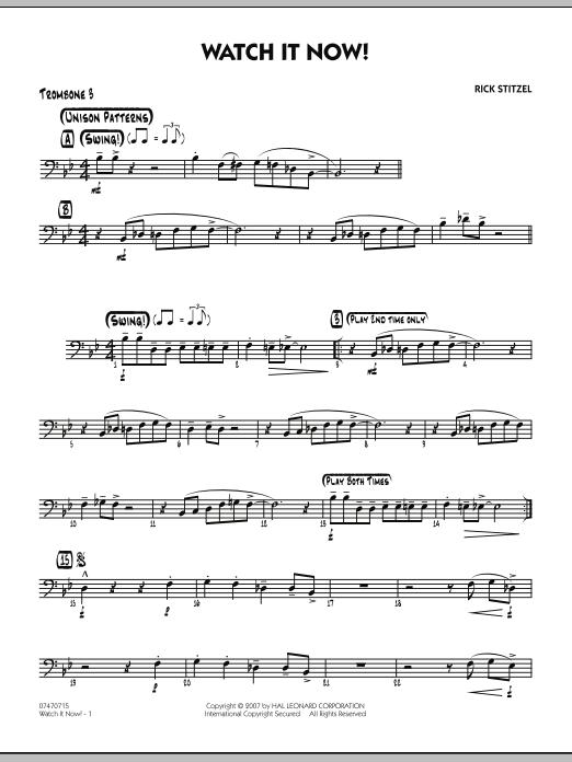 Watch It Now! - Trombone 3 (Jazz Ensemble)
