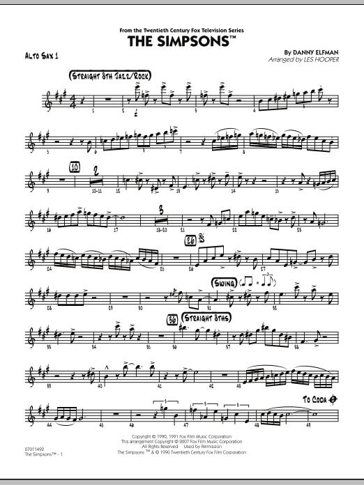 The Simpsons - Alto Sax 1 (Jazz Ensemble)