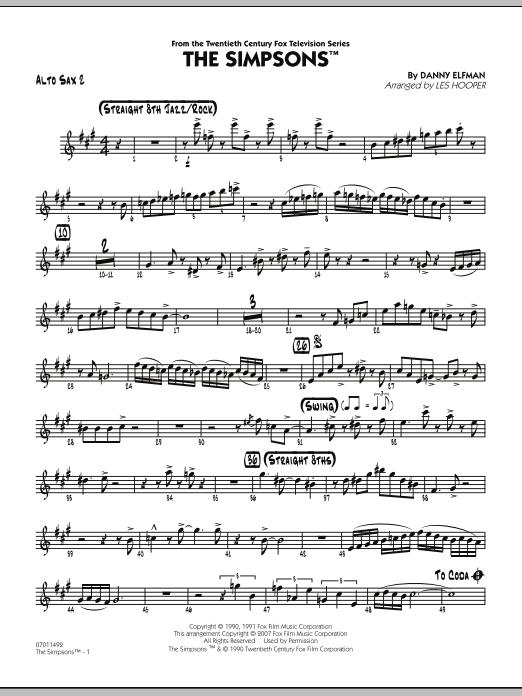 The Simpsons - Alto Sax 2 (Jazz Ensemble)