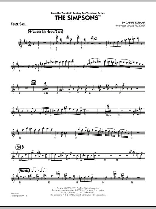 The Simpsons - Tenor Sax 1 (Jazz Ensemble)
