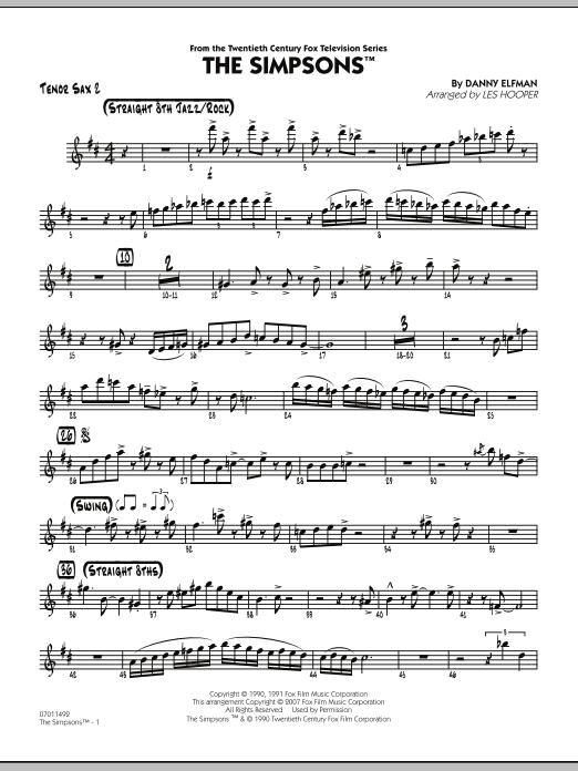 The Simpsons - Tenor Sax 2 (Jazz Ensemble)