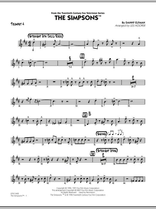 The Simpsons - Trumpet 4 (Jazz Ensemble)