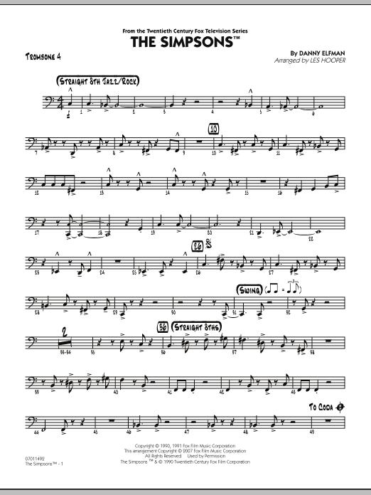 The Simpsons - Trombone 4 (Jazz Ensemble)