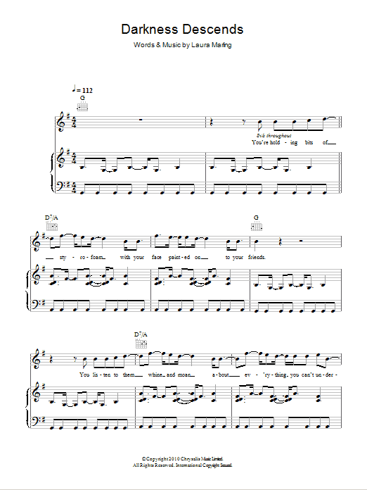 Darkness Descends Sheet Music