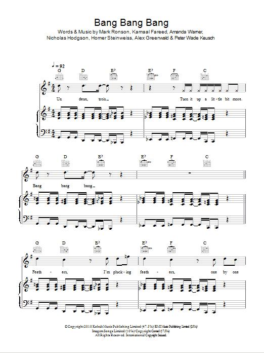 Bang Bang Bang Sheet Music