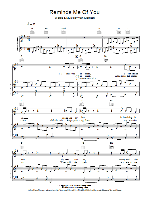 Reminds Me Of You Sheet Music