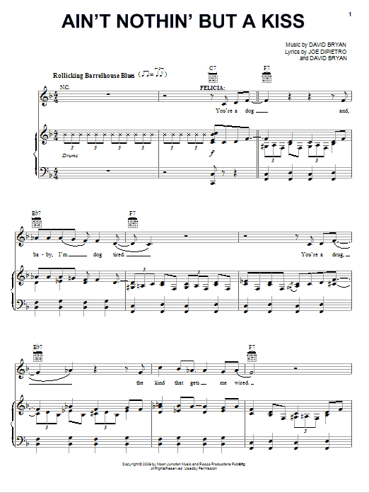 Ain't Nothin' But A Kiss Sheet Music