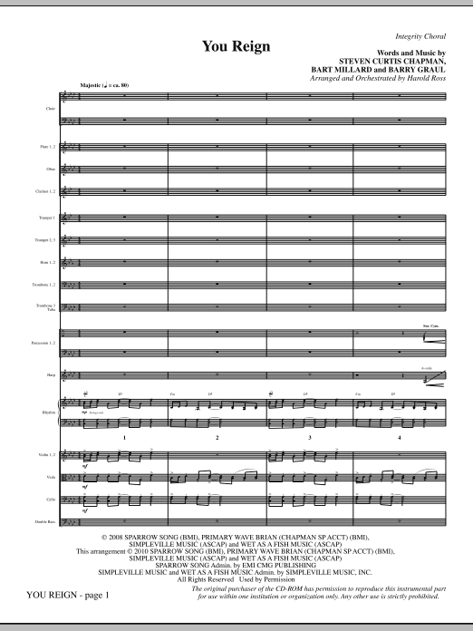 You Reign - Full Score Sheet Music