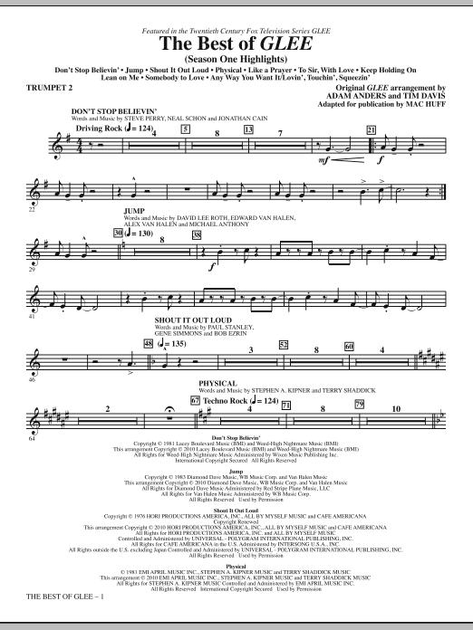 The Best Of Glee (Season One Highlights) - Trumpet 2 (Choir Instrumental Pak)