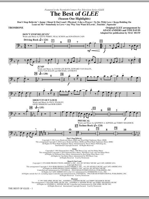 The Best Of Glee (Season One Highlights) - Trombone (Choir Instrumental Pak)