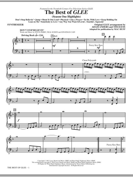 The Best Of Glee (Season One Highlights) - Synthesizer (Choir Instrumental Pak)