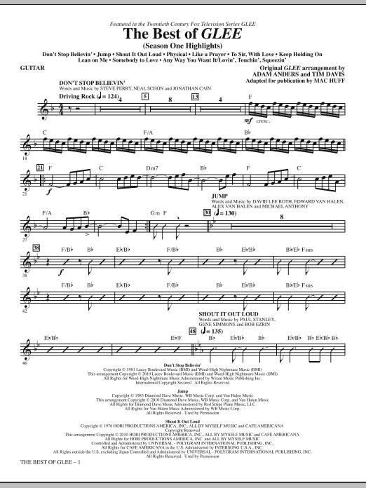 The Best Of Glee (Season One Highlights) - Guitar (Choir Instrumental Pak)