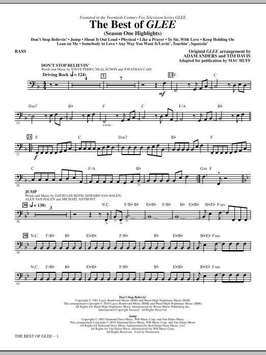 The Best Of Glee (Season One Highlights) - Bass (Choir Instrumental Pak)