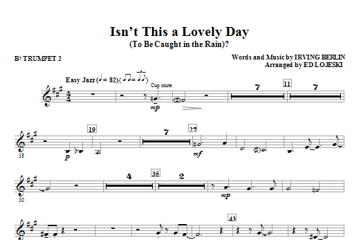 Isn't This A Lovely Day (To Be Caught In The Rain)? - Bb Trumpet 2 (Choir Instrumental Pak)