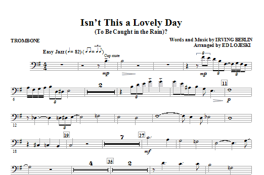 Isn't This A Lovely Day (To Be Caught In The Rain)? - Trombone (Choir Instrumental Pak)