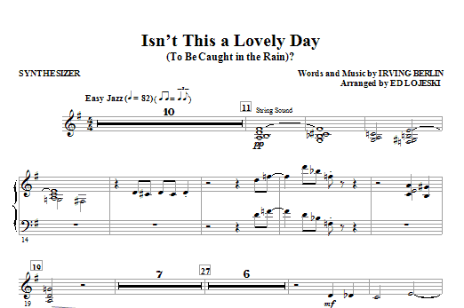 Isn't This A Lovely Day (To Be Caught In The Rain)? - Synthesizer (Choir Instrumental Pak)