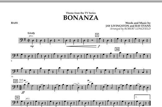 Bonanza - String Bass (Orchestra)