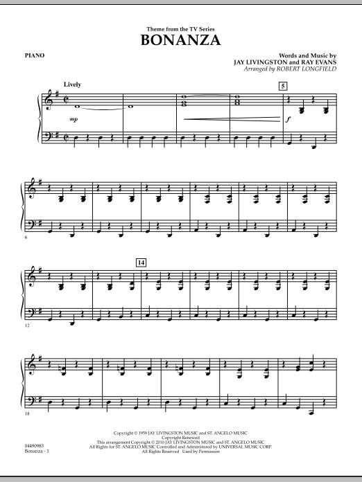 Bonanza - Piano (Orchestra)