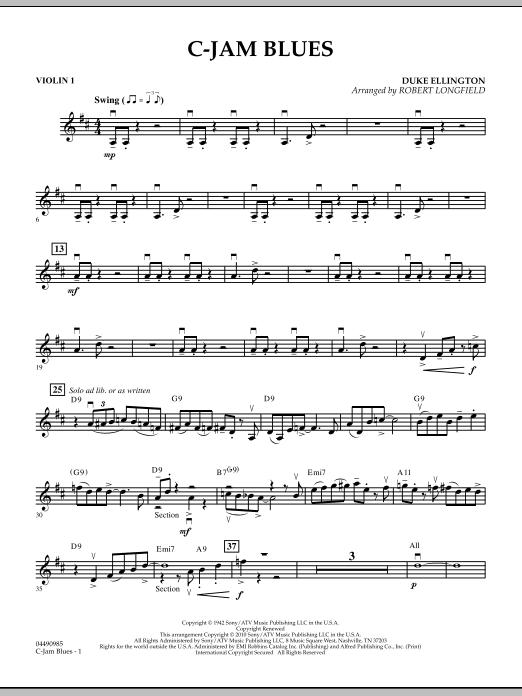 C-Jam Blues - Violin 1 (Orchestra)