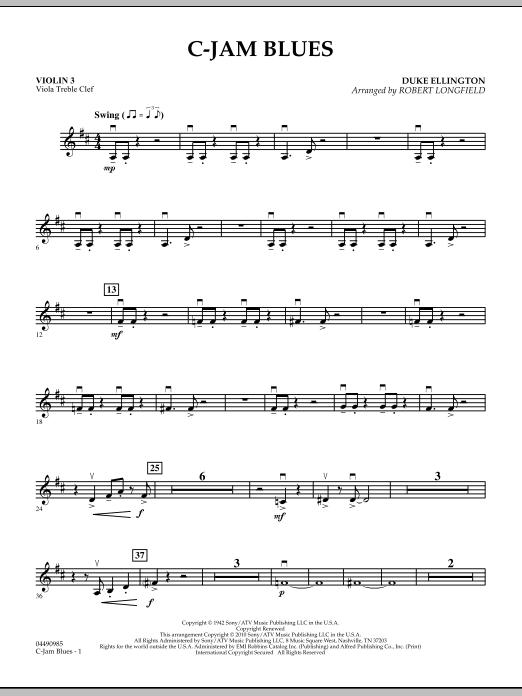 C-Jam Blues - Violin 3 (Viola Treble Clef) (Orchestra)