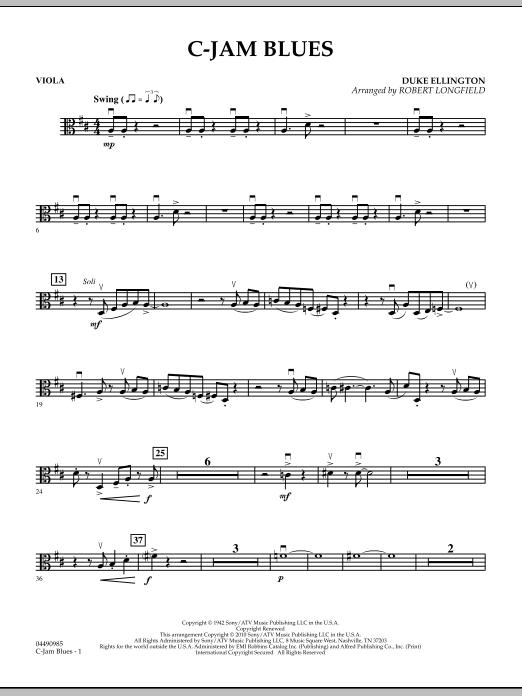 C-Jam Blues - Viola (Orchestra)