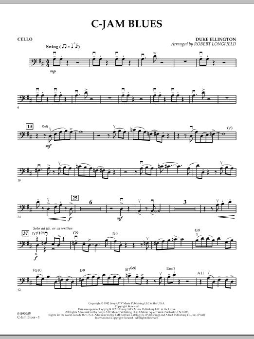 C-Jam Blues - Cello (Orchestra)