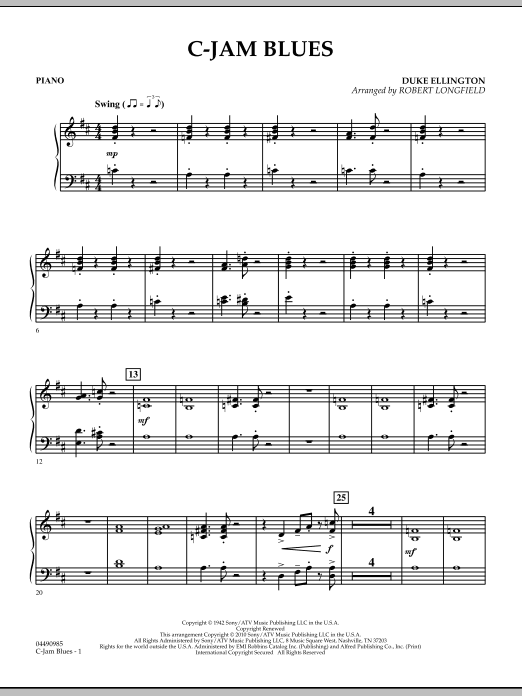 C-Jam Blues - Piano (Orchestra)