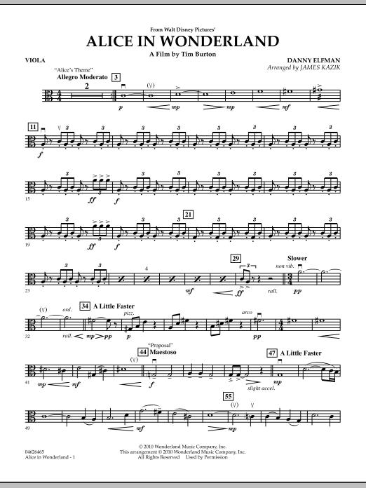 Alice In Wonderland - Viola (Orchestra)