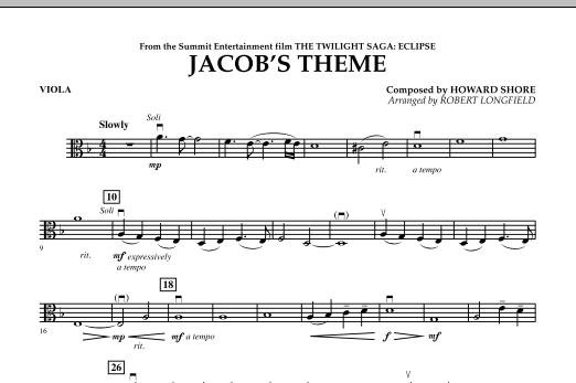 Jacob's Theme (from The Twilight Saga: Eclipse) - Viola (Orchestra)