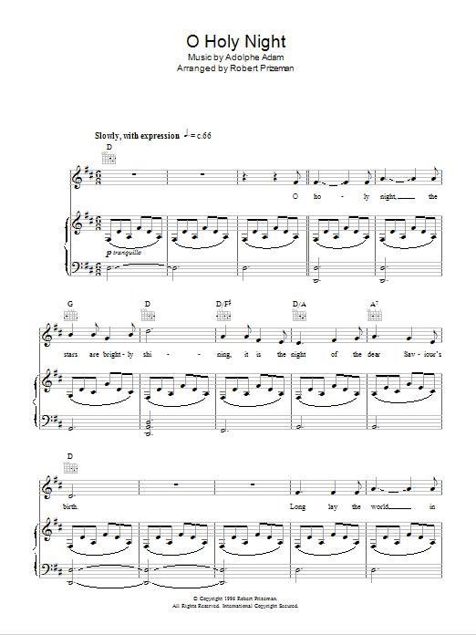 O Holy Night (Piano, Vocal & Guitar)
