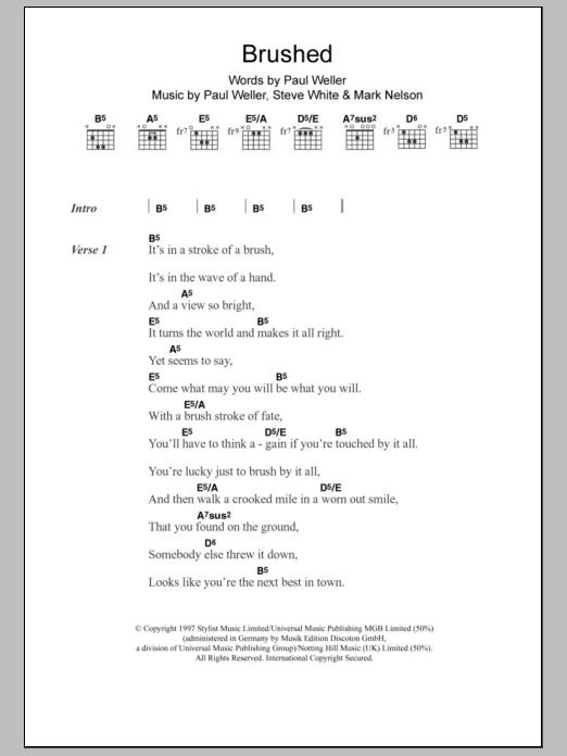 Brushed Sheet Music