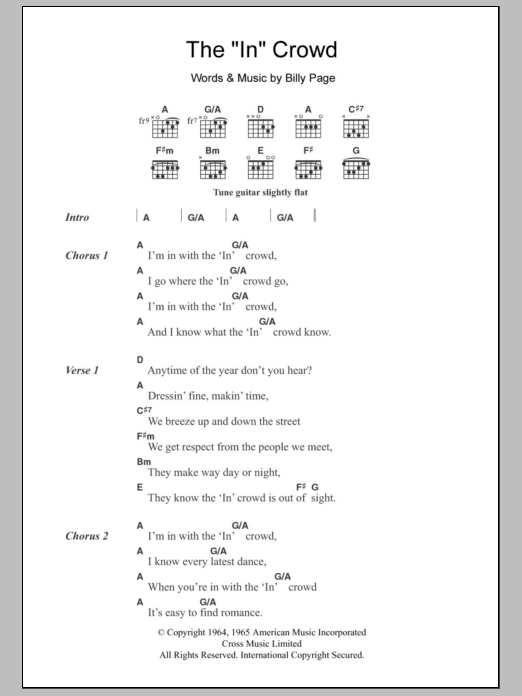 "The ""In"" Crowd Sheet Music"