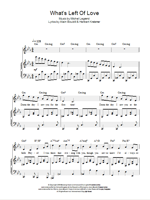 What's Left Of Love (from Marguerite) Sheet Music