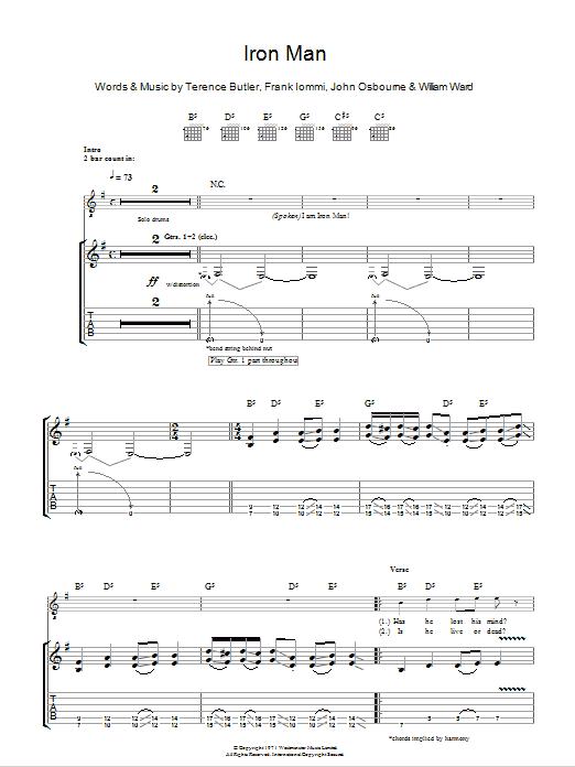 Iron Man Guitar Tab : iron man guitar tabs ~ Russianpoet.info Haus und Dekorationen