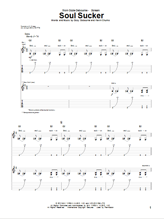 Soul Sucker Sheet Music