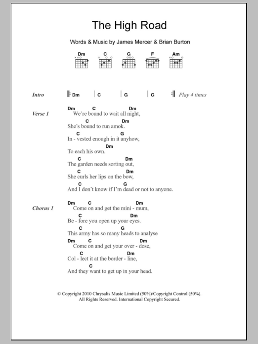 The High Road Sheet Music