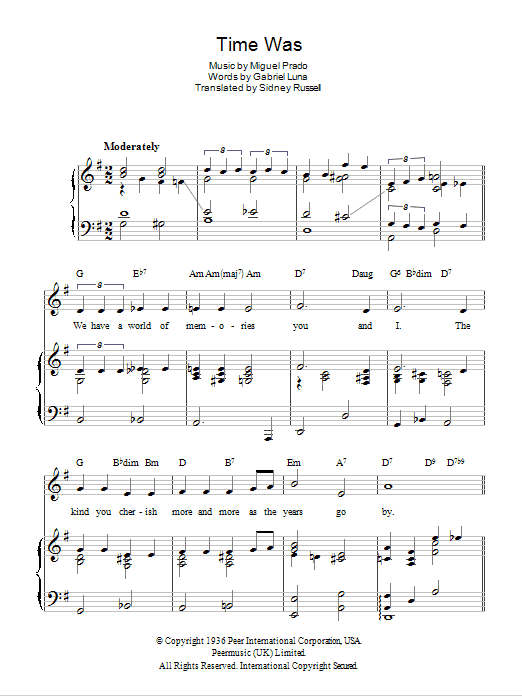 Time Was (Duerme) Sheet Music